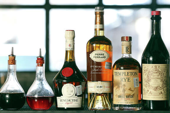 Ingredients for the Vieux Carre at Arcade Midtown Kitchen.