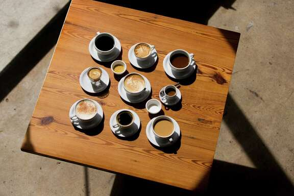 Various coffee drinks