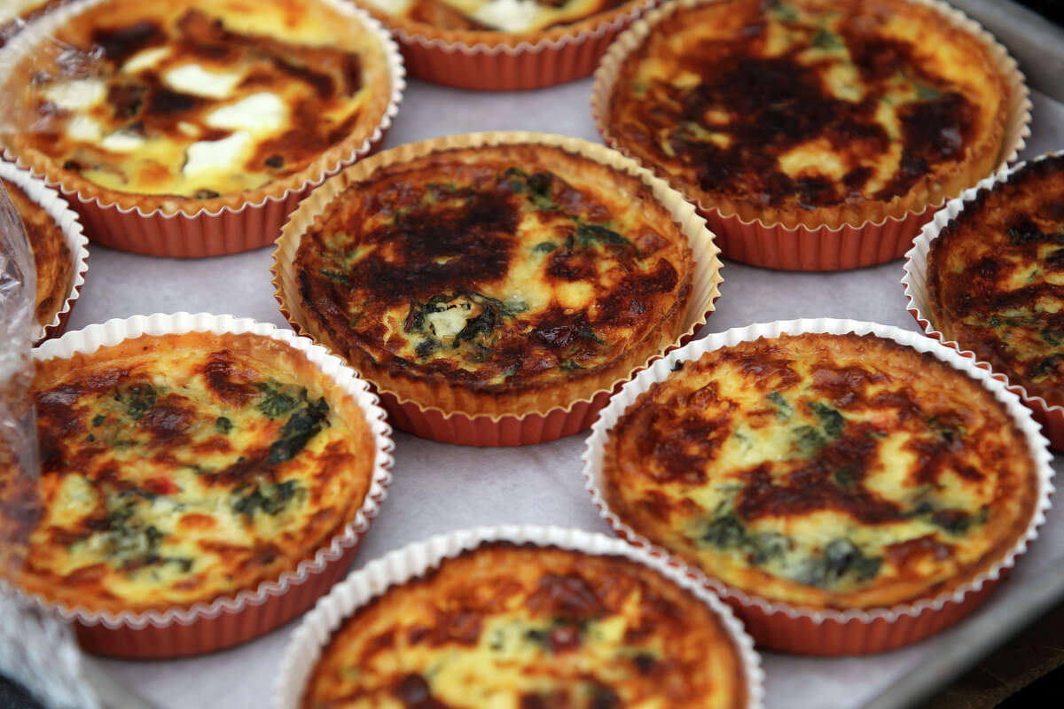 Small quiches from Bakery Lorraine.