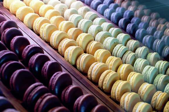 An array of macarons, at Bakery Lorraine, beckons.