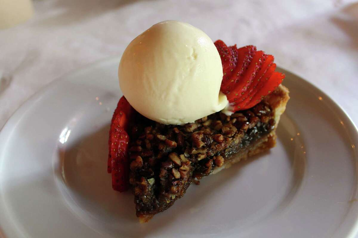 Pecan pie is a featured dessert at The Cookhouse.For mySA Just a Taste: The Cookhouse by Chef Pieter Sypesteyn features food from his native New Orleans, including pecan pie. He also owns Where Y'At Food Truck. (Jennifer McInnis / San Antonio Express-News