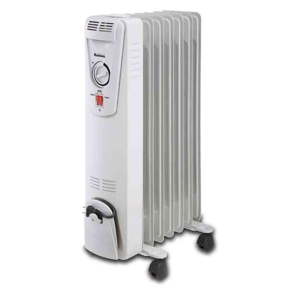 This photo provided by the U.S. Consumer Product Safety Commission shows a Holmes brand oil-filled heater that is being recalled because the heaters can spray heated oil, posing a scald hazard. (AP Photo/U.S. Consumer Product Safety Commission) Photo: Associated Press / U.S. Consumer Product Safety Com