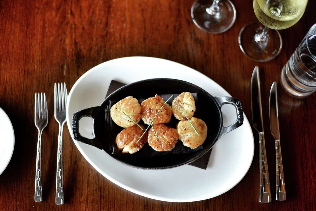 Seared diver scallops at 18 Oaks at the JW Marriott San Antonio Hill Country Resort & Spa.