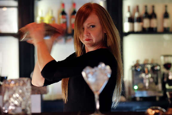 Barbaro bar manager Elisabeth Forsythe prepares a drink at Barbaro.