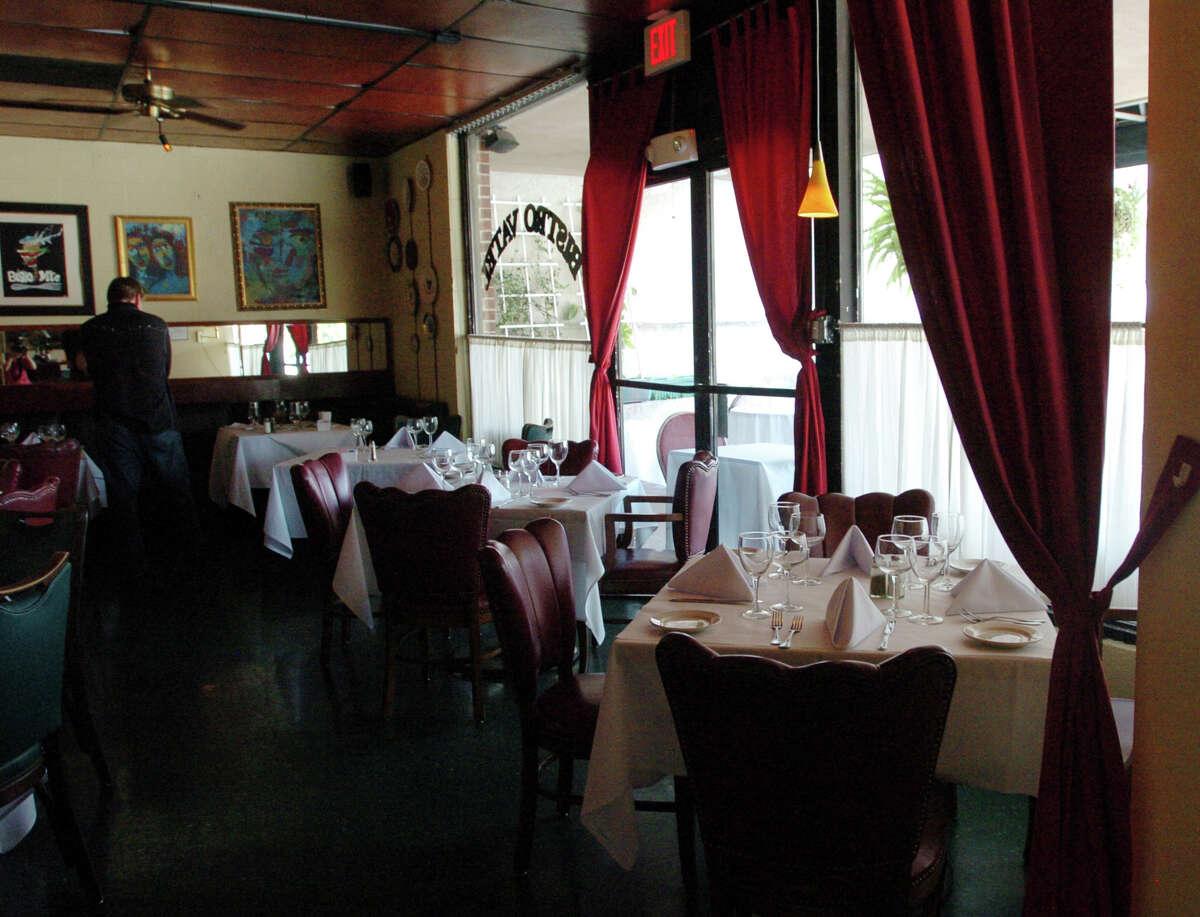 The interior of Chez Vatel Bistro.
