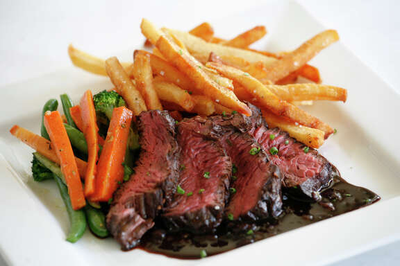 Steak frites at La Frite Belgian Bistro.