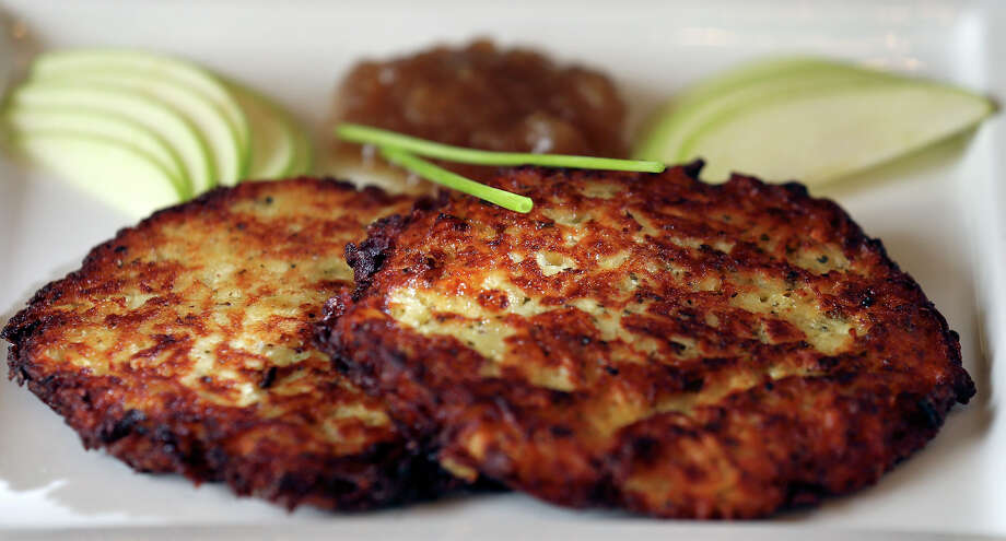 German potato pancakes at Little Gretel in Boerne. Photo: Edward A. Ornelas /San Antonio Express-News / © 2014 San Antonio Express-News