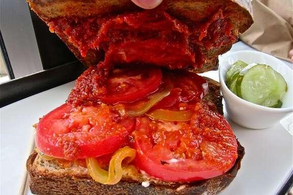 Triple tomato sandwich at Common Bond.