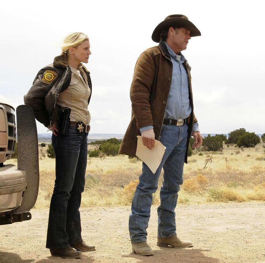 "Katee Sackhoff (left) and Robert Taylor play Wyoming sheriffs trying to solve a murder in ""Longmire."" Photo: Handout, McClatchy-Tribune News Service"
