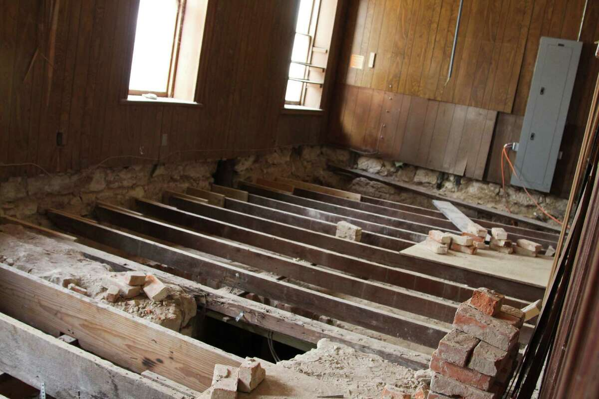 An architectural firm found a cistern under the Halff House during their historic preservation work.