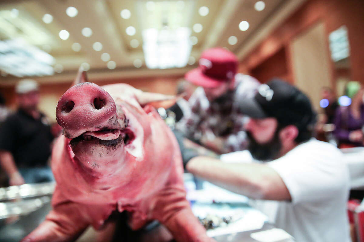 Cochon 555, a culinary competition that celebrates heritage breed pigs, will come to Houston again next year as part of its 10-city national tour for 2016. The Houston event will be held Feb. 28 at the JW Marriott Houston Downtown. These are scenes from previous Cochon 555 events nationwide.