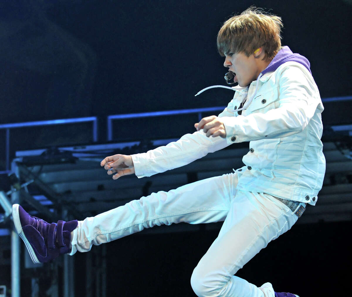 Singer Justin Bieber performs at the Times Union Center in Albany, NY on August 25, 2010. (Lori Van Buren / Times Union)