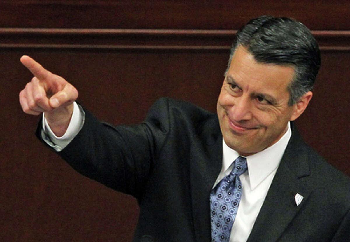Gov. Brian Sandoval easily won re-election in November.