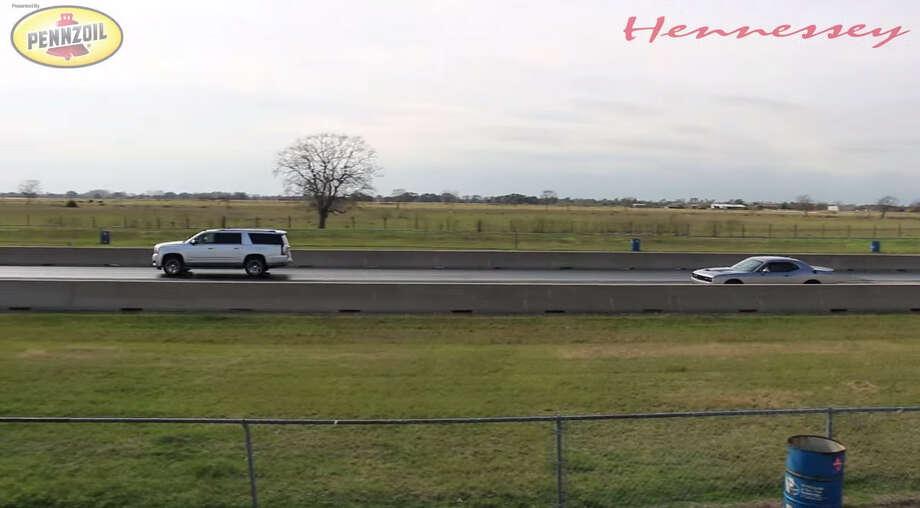 Hennessey Races Gmc Yukon Denali Versus Dodge Challenger