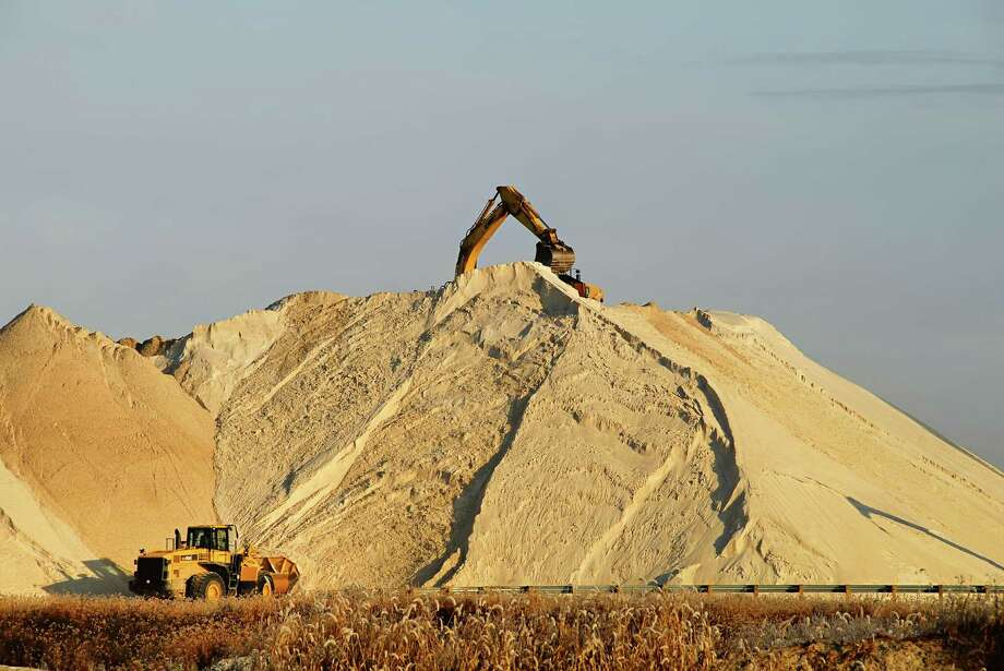 """Houston-based Hi-Crush Partners operates a 600-acre sand mining facility in Wisconsin. Chief Financial Officer, Laura Fulton said, """"Our worst-case scenario is that frac sand demand remains flat, but our belief is that it will probably grow."""" Photo: Courtesy Hi-Crush Partners"""