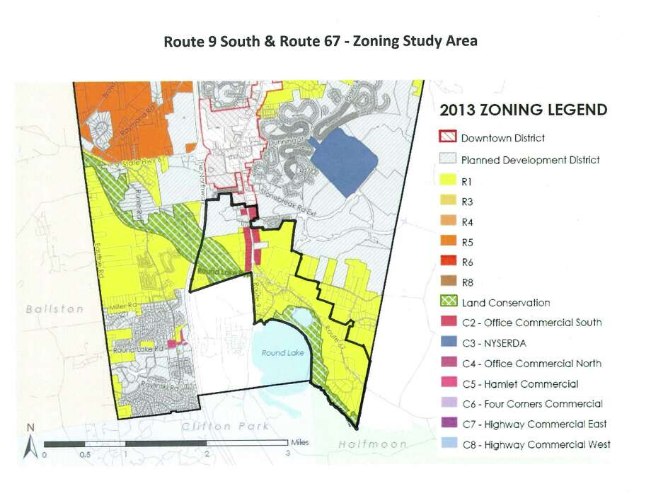 This map shows an area in Malta that is being considered for zoning change. (Town of Malta)
