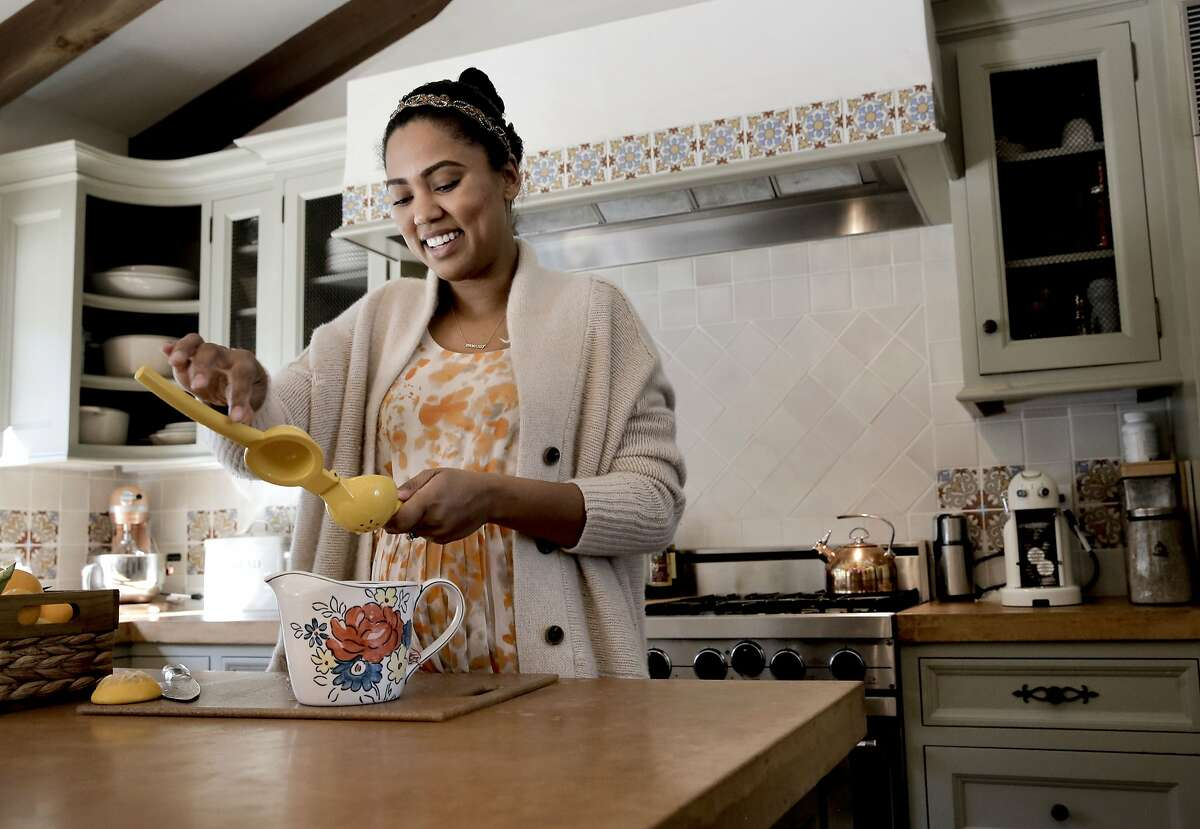 Ayesha Curry wife of Warriors basketball star Stephen Curry makes lemonade in the kitchen of their Orinda, Calif. home, as seen on Tues. January, 20, 2015.