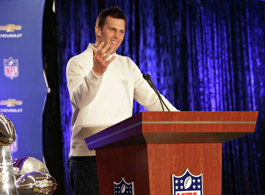 New England Patriots quarterback Tom Brady speaks during a news conference, Monday, Feb. 2, 2015, in Phoenix. Brady was named the MVP of Super Bowl XLIX, where the Patriots beat the Seattle Seahawks 28-24. (AP Photo/The Arizona Republic, John Samora) ORG XMIT: AZPHP105 Photo: John Samora / ©2015 The Arizona Republic/ Gannett Media