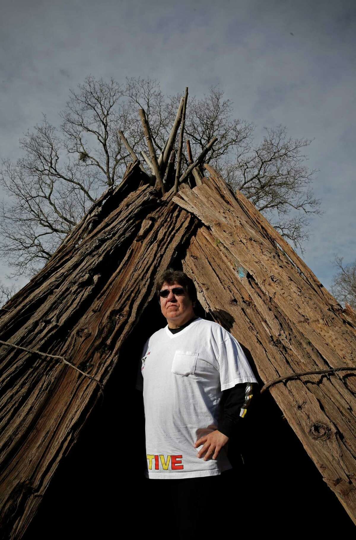 Adam Dalton, tribal chairman of the Jackson Band of the Miwuk Indians, at the state park.