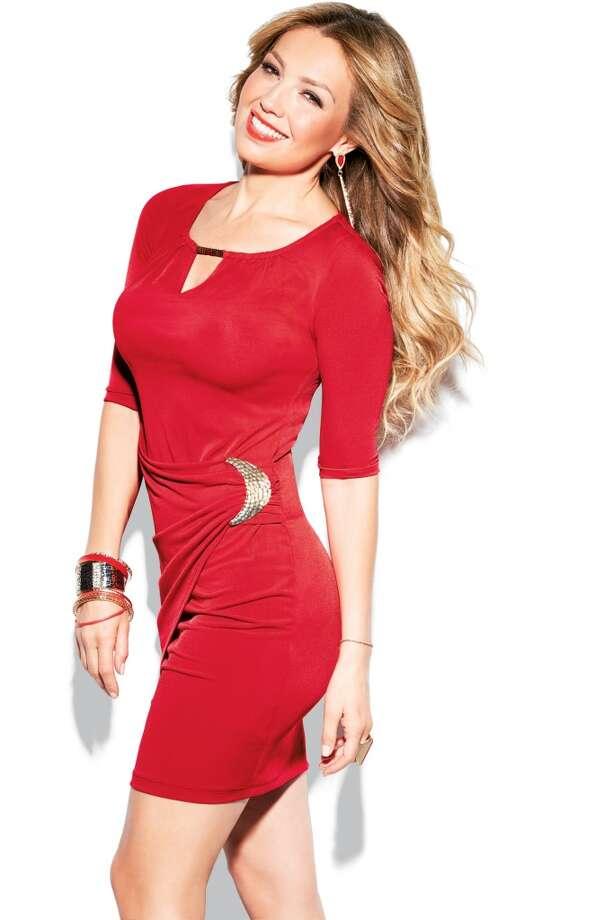 La nueva línea  de ropa, calzado y joyería de Thalía, llamada Thalia Sodi, está disponible desde este lunes en Macy´s. Photo: Shammel Lee, Macy's
