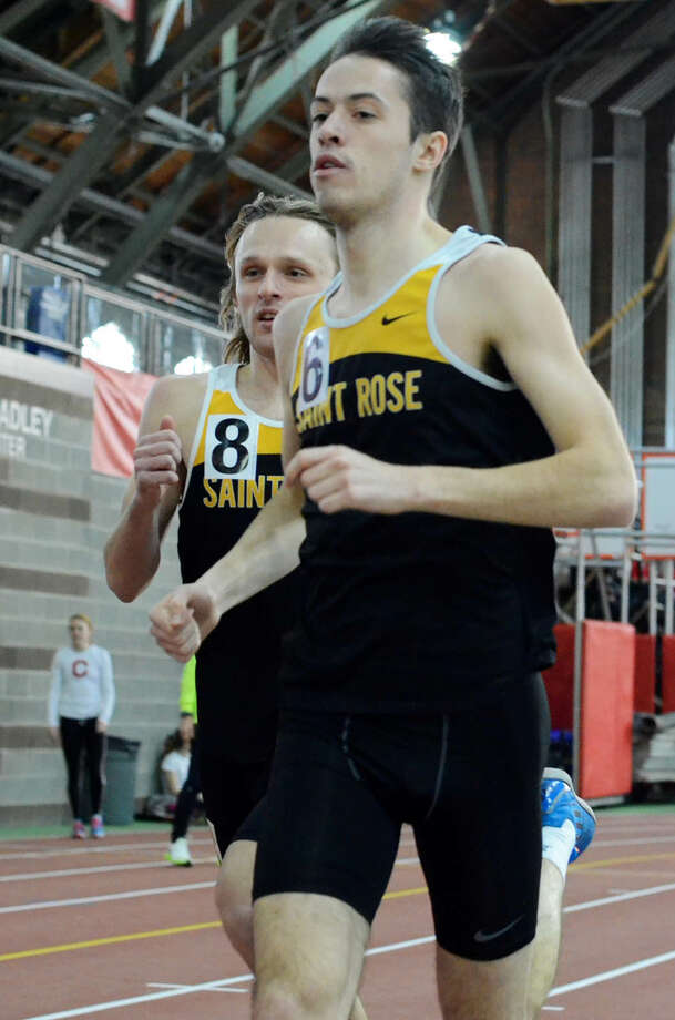 La Salle graduate Eamonn Coughlin of the College of Saint Rose indoor track team. (College of Saint Rose sports information)