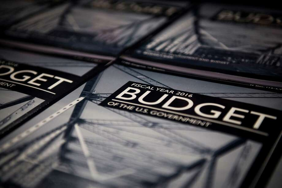 The 2016 Fiscal U.S. Government budget at the Senate Dirksen Office building in Washington, Feb. 2, 2015. In his new budget, President Barack Obama proposed on Monday to squeeze $399 billion over the next 10 years out of Medicare, Medicaid and other programs run by the Department of Health and Human Services. (Gabriella Demczuk/The New York Times) Photo: Gabriella Demczuk /New York Times / NYTNS