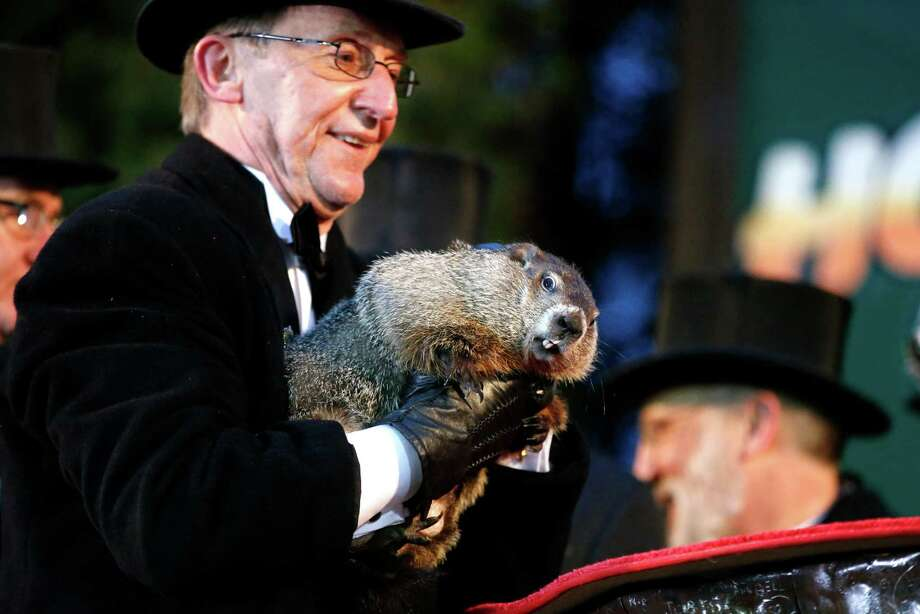 Early spring!Punxsutawney Phil didn't see his shadow this Groundhog Day, which supposedly means an early spring. Of course, he's been right 13 times and wrong 15, so maybe don't trust the rodent. Photo: Gene J. Puskar, STF / AP