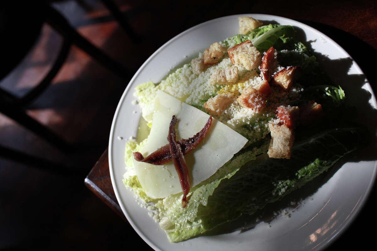 The caesar salad at Piatti in the Alamo Quarry Market.