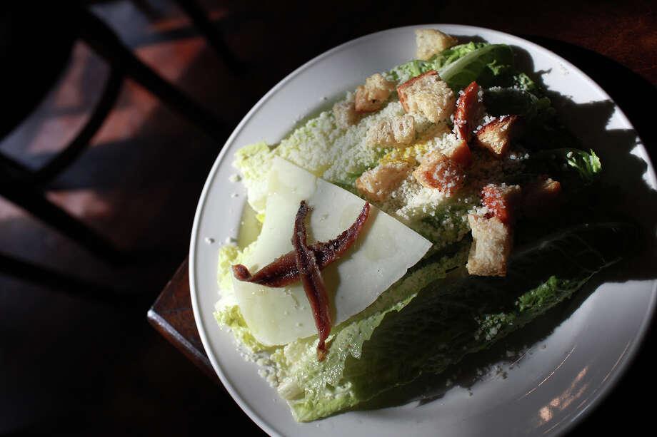 The caesar salad at Piatti in the Alamo Quarry Market. Photo: Lisa Krantz /San Antonio Express-News / @2012 SAN ANTONIO EXPRESS-NEWS