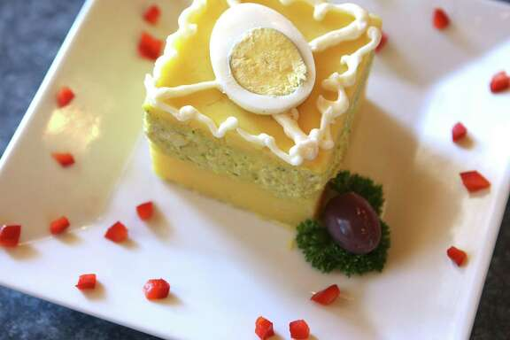 Causa de pollo at Rocoto's Sabor Latino Grill.
