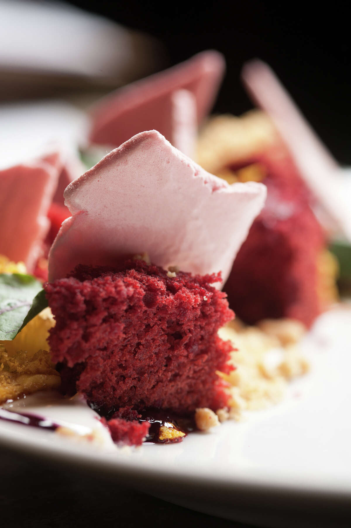 Beet cake from The Monterery at 1127 S. St,. Marys St. in the Southtown area.