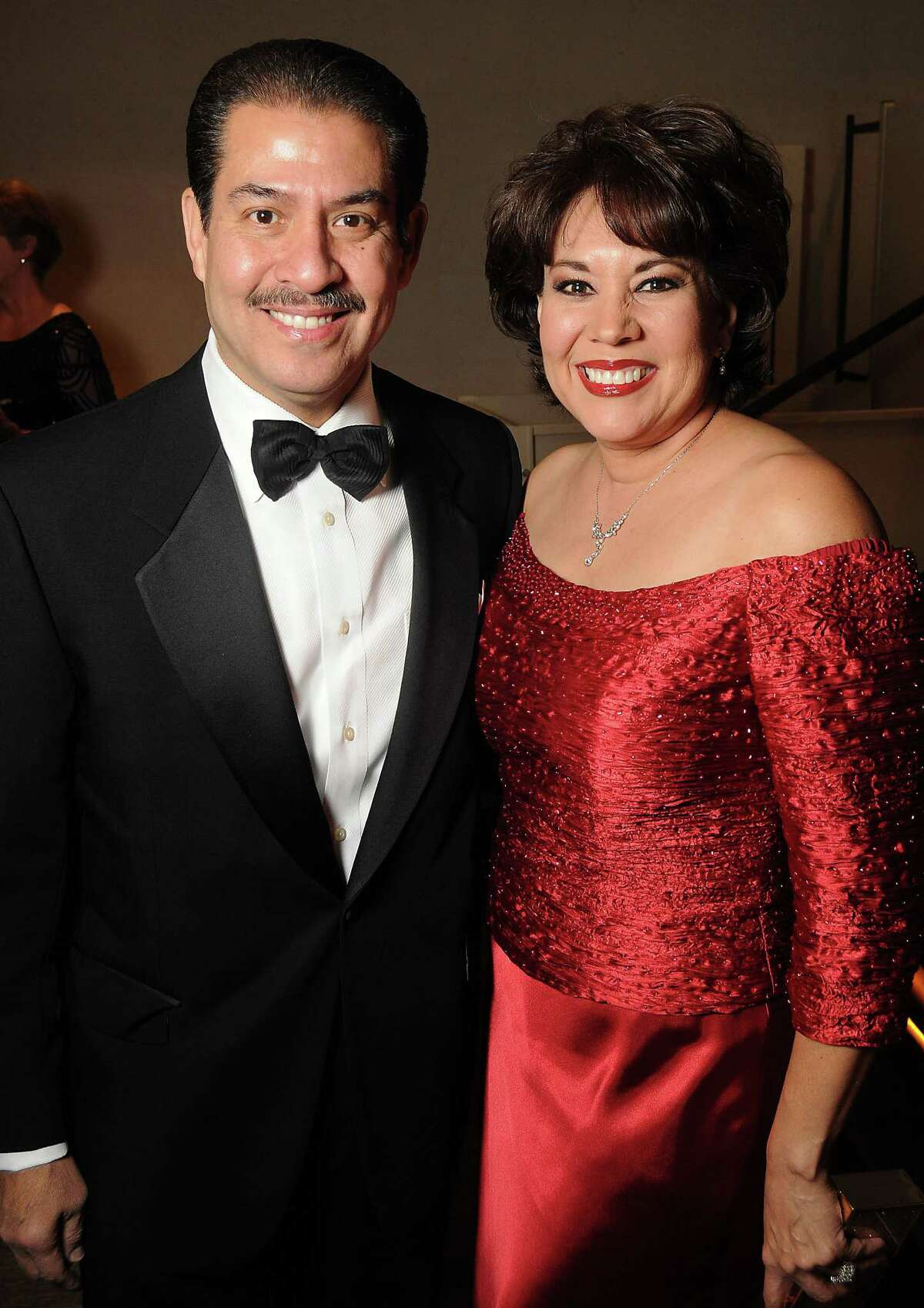 Harris County Sheriff Adrian Garcia and his wife Monica at Celebrating 40 Years: University of Houston- Downtown Gala at the JW Marriott Downtown Friday Jan. 23,2015.(Dave Rossman For the Chronicle)