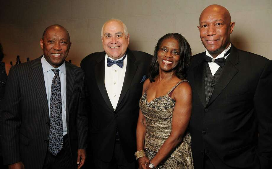 From left: Sylvester Turner, Dr. William Flores, Judge Clarease Yates and Cary Yates at Celebrating 40 Years: University of Houston- Downtown Gala at the JW Marriott Downtown Friday Jan. 23,2015.(Dave Rossman For the Chronicle) Photo: Dave Rossman, Freelance / Freelalnce