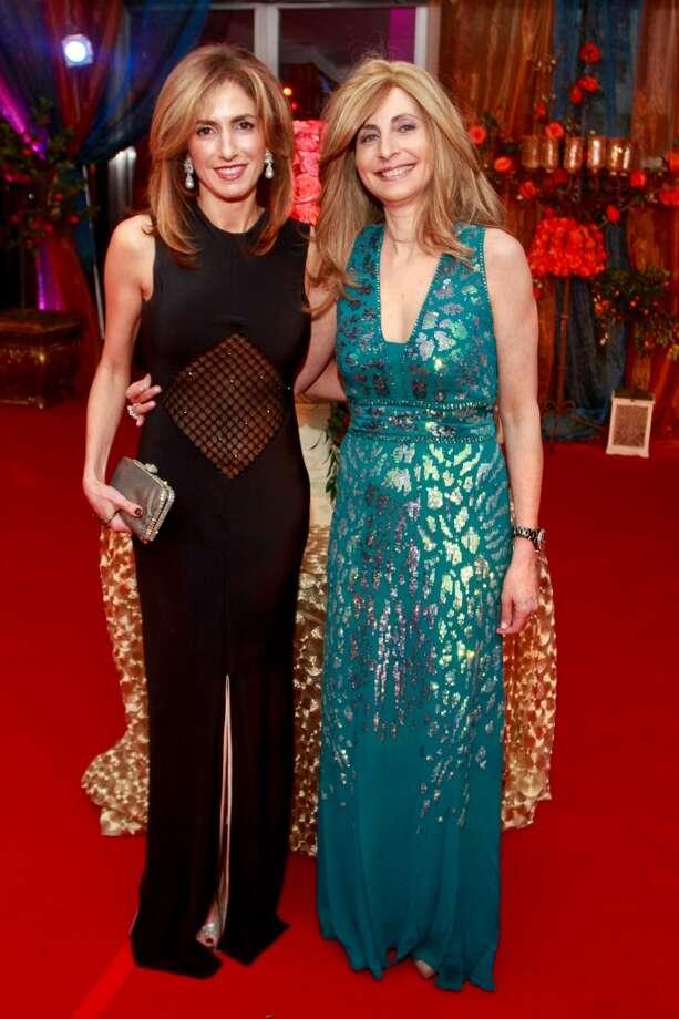 Sima Ladjevardian, left, and Rania Daniel at the Arts of the Islamic World Gala Photo: Gary Fountain, For The Chronicle