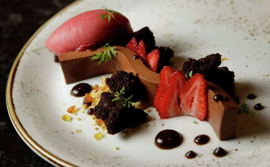 Finish things off with Chocolate Timbale. Photo: Melissa Phillip, Staff / © 2014  Houston Chronicle