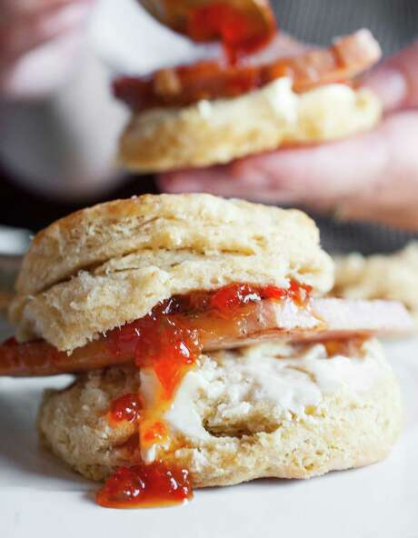 Ham and jam on biscuits at Punk's Simple Southern Food. Photo: Debora Smail / Debora Smail
