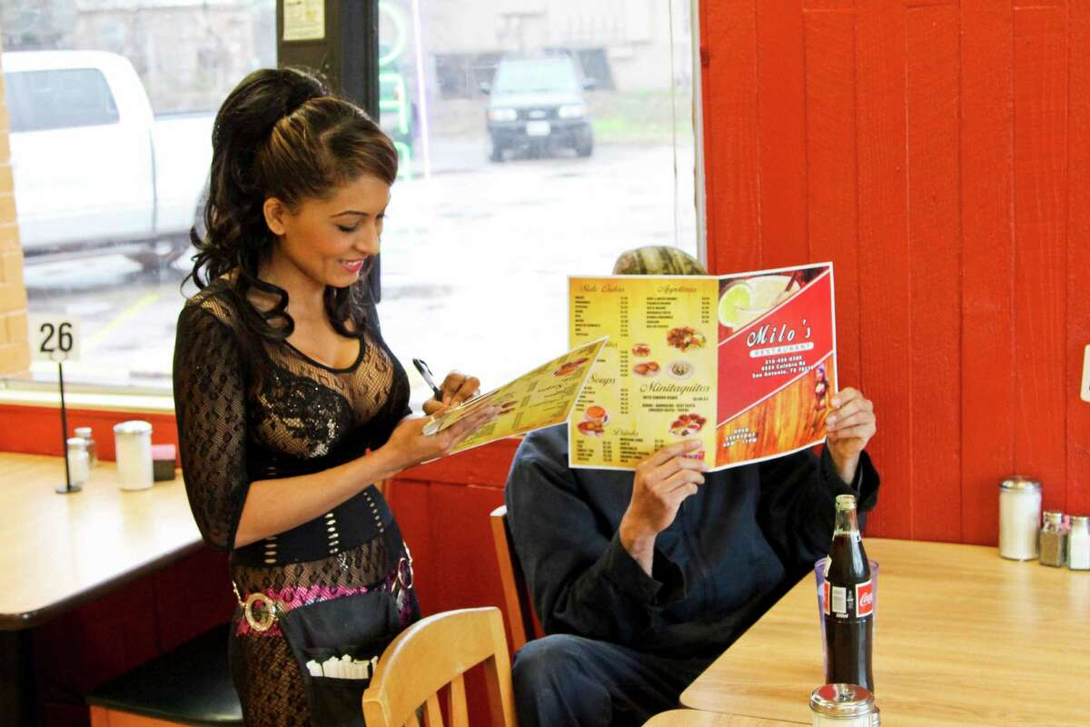 Milo's Restaurant at 4334 Culebra Road provides a variety of Mexican dishes, and the hostess and servers wear miniskirts, short shorts and colorful tops while tending to guests.