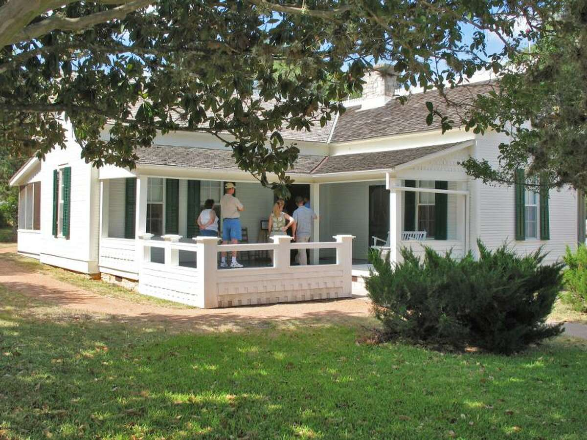 This photo shows the boyhood home of Lyndon Johnson, the 36th president of the U.S. The home is now a national park, governed by the National Park Service.
