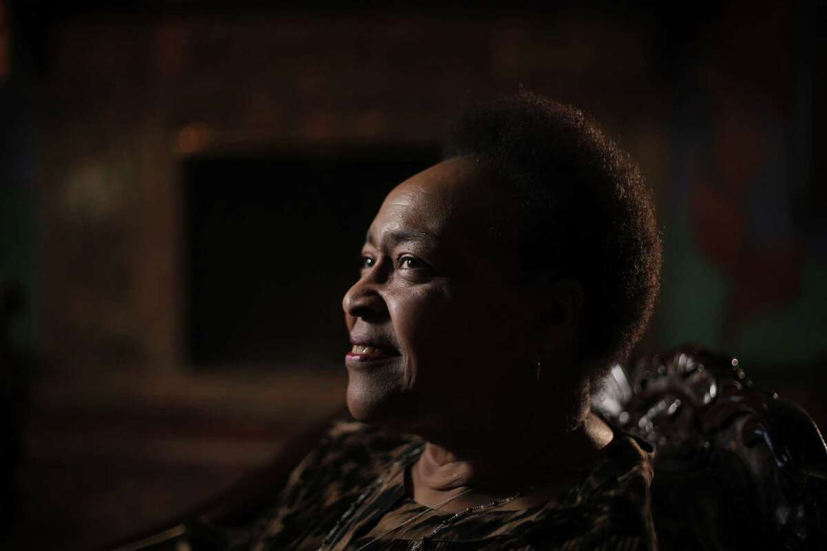 Linda Tillery at the Montclair Women's Cultural Arts Club in Oakland. Tillery is a veteran Bay Area singer who's equally adept a rock, jazz, soul and gospel music. She sang with Bobby McFerrin's Voicestra, and founded the Cultural Heritage Choir and is still active after 50 years on the scene.