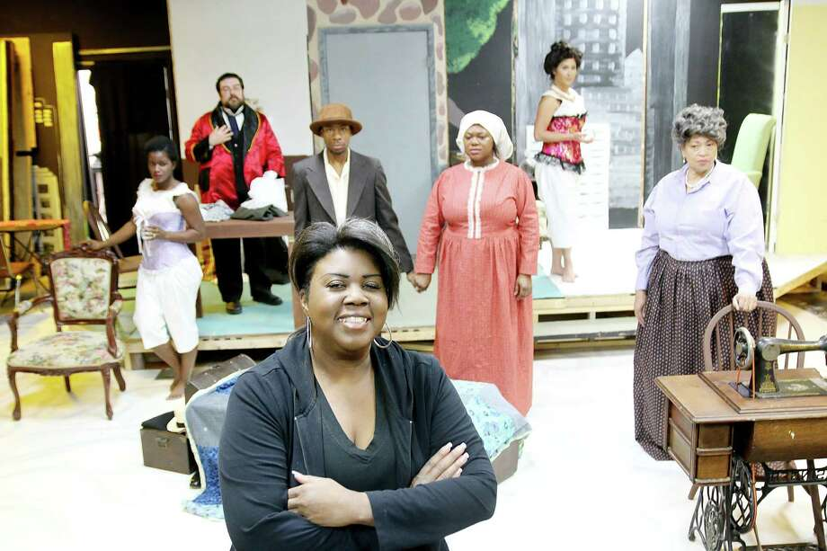 """Director Denise O'Neal, a Fort Bend County resident, works with the cast of """"Intimate Apparel"""" at Pearl Theater. Photo: Pin Lim, Freelance / Copyright Forest Photography, 2015."""
