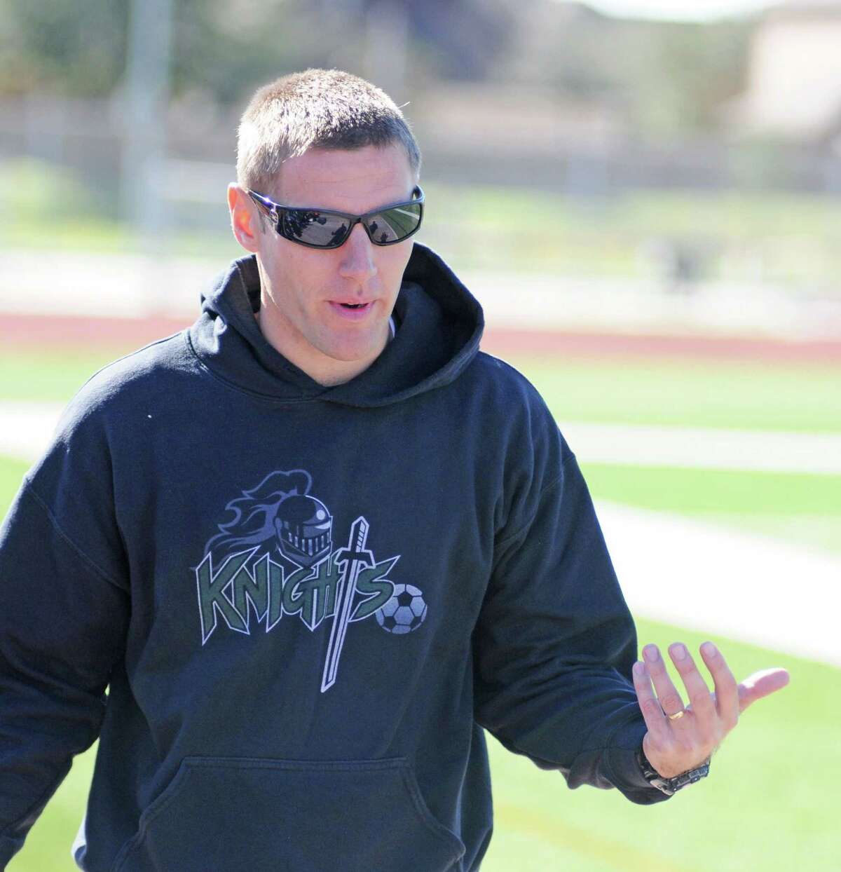 Clear Falls boys soccer coach Michael Balla has his squad motivated.