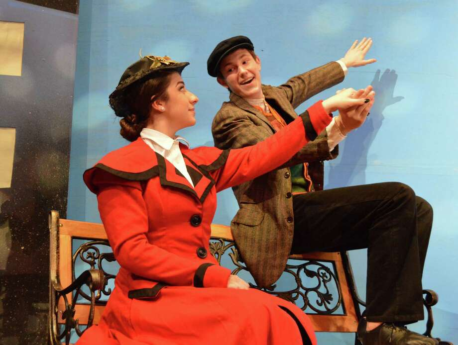 "Audrey McKee and Connor Krusleski star in Friendswood High School's production of ""Mary Poppins."" Photo: FISD"