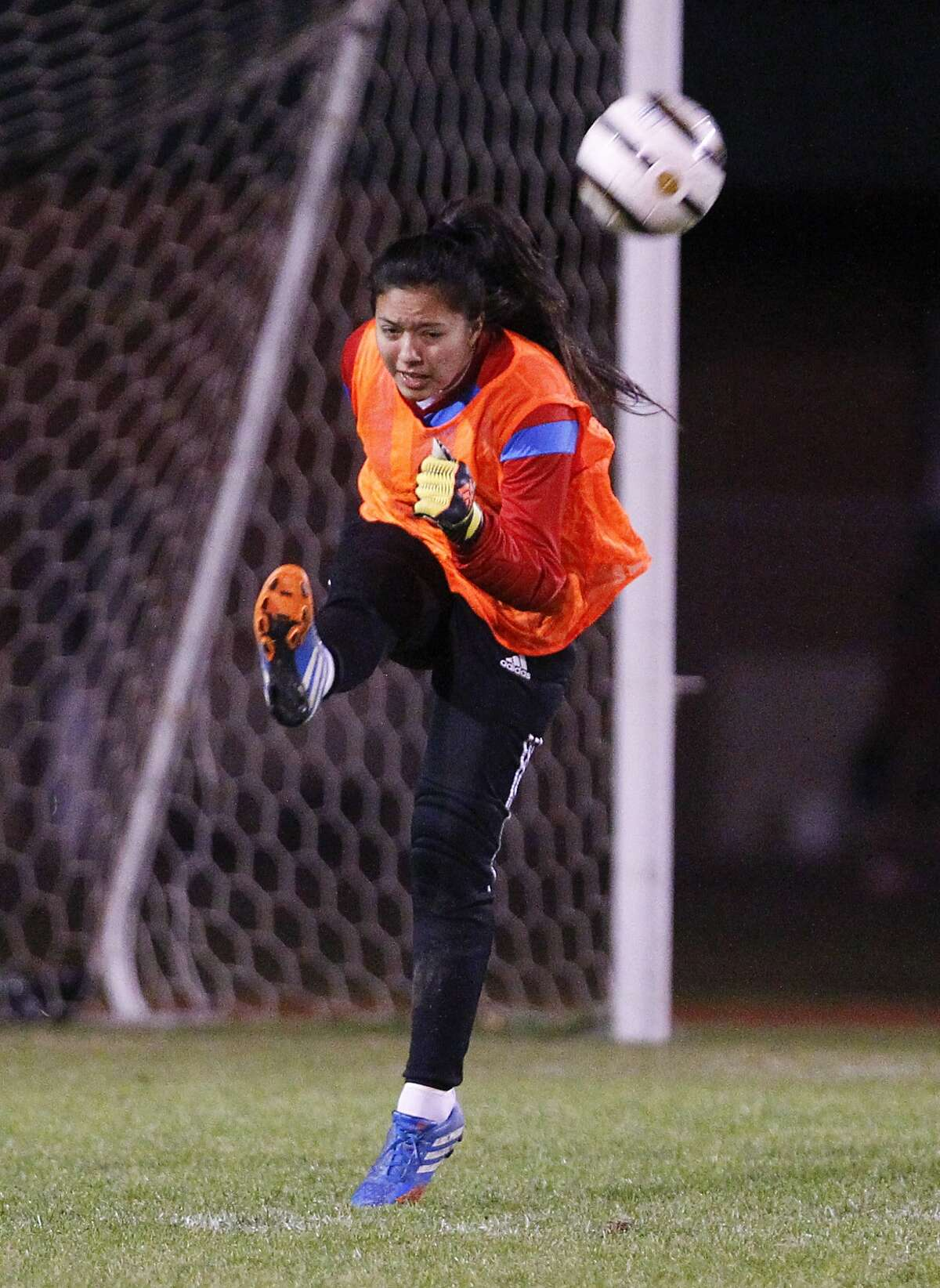 Cy Springs keeper Diana Barroso and the Panthers host Cy Woods Friday.
