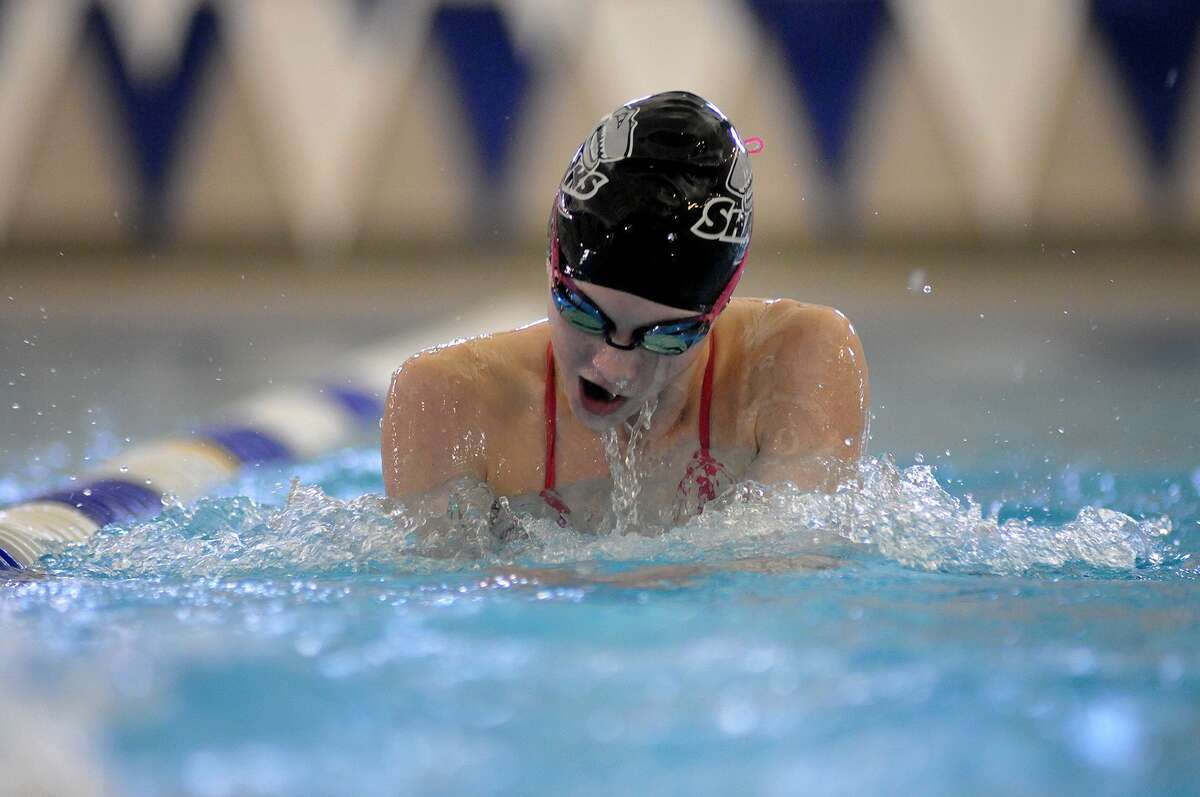 Friendswood swimmer Sydney Gurry won two relay golds and two individual golds at the District 24-6A meet.