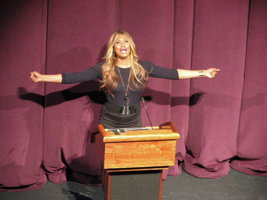 Were you Seen at the appearance by Laverne Cox, whose talk kicked off Sexuality Week at the University at Albany on Tuesday, Feb. 3, 2015? Cox is an advocate for transgender rights and stars in the Netflix series, 'Orange is the New Black.' Photo: Jasmine Robinson