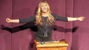 Were you Seen at the appearance by Laverne Cox, whose talk kicked off Sexuality Week at the University at Albany on Tuesday, Feb. 3, 2015? Cox is an advocate for transgender rights and stars in the Netflix series, 'Orange is the New Black.'