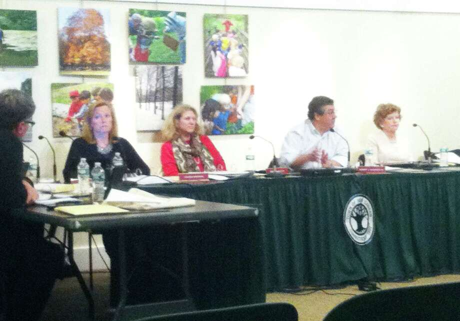 The Board of Finance discuss the town's Public Works budget Tuesday night at the New Canaan Nature Center. The initial budget calls for $143 million in spending. Photo: Contributed Photo / Greenwich Time Contributed