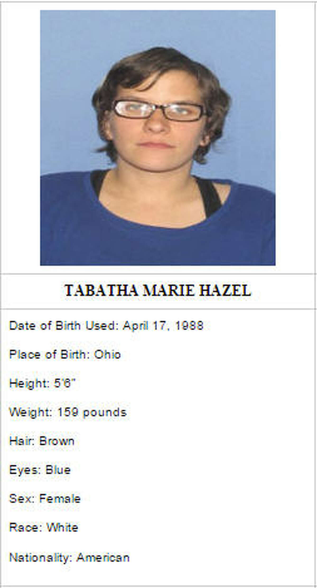 Robert Roy Clark, a convicted felon, is wanted for his alleged involvement in the murder of an elderly couple in Strasburg, Ohio, on January 21, 2015, as well as several armed robberies. The FBI believes he may be traveling with this woman, Tabatha Marie Hazel, who has been charged with first degree armed robbery.