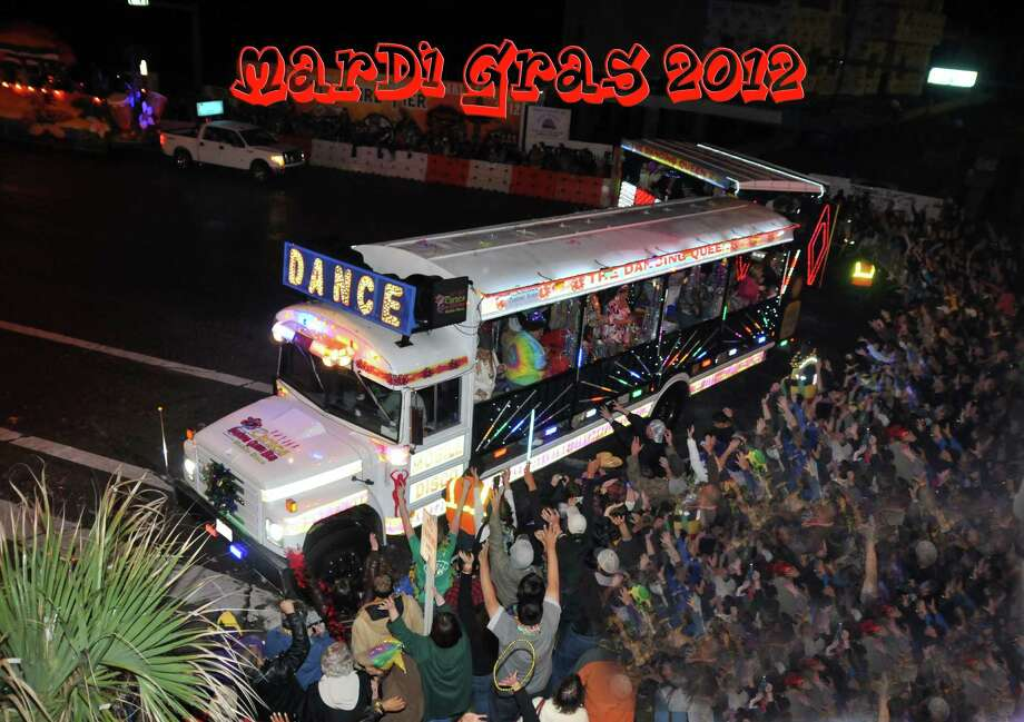 The Dancing Queen Bus owned by Carnes Funeral home that appears in parades and events. Photo: Courtesy