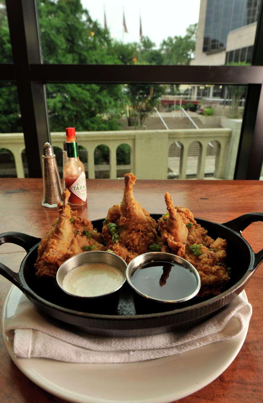 May 19, 2011 -- Fried Texas Quail with buttermilk ranch dressing and Hill Country Honey from Luke, who tied with La Gloria for Best New Restaurant.